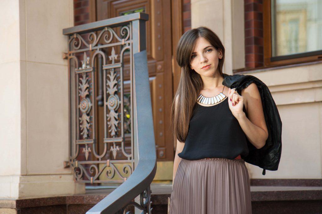 Плиссированная юбка в Daily Look 1