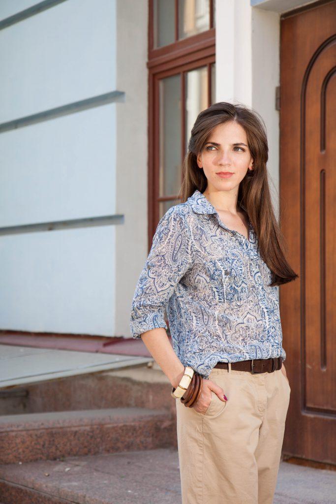 Шорты свободного кроя и шелковая рубашка в Daily Look 16.08.2014_2