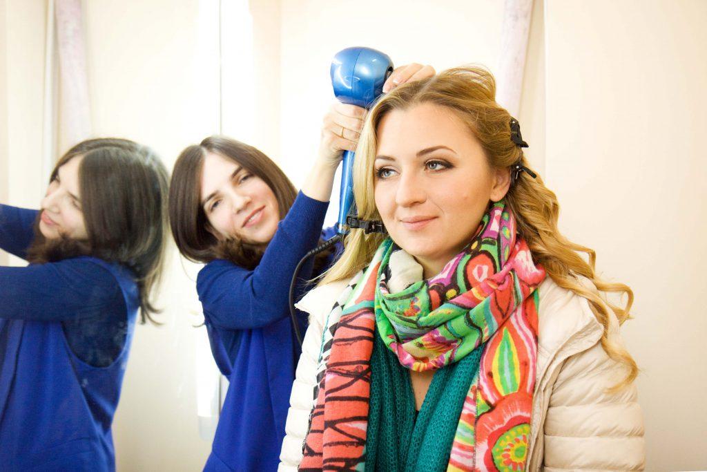 Виктория на фотосессии со стилистом Викой Барвой