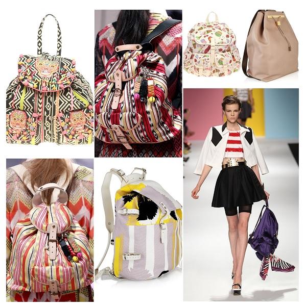 женские рюкзаки и мюли